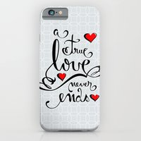 Valentine Love Calligraphy and Hearts iPhone 6 Slim Case