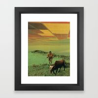Shepherd Of The Plains Framed Art Print