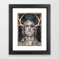 Framed Art Print featuring Rust by Wendy Ortiz