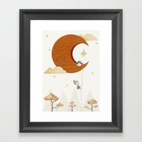 Escape To The Moon Framed Art Print