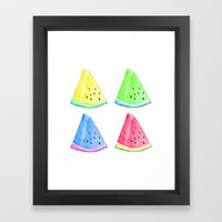 Watermelon Color Mix Framed Art Print