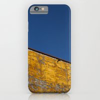 iPhone & iPod Case featuring yellow-blue by Alexandre M. Ferreira