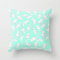Lazy Cat Pattern Solid Throw Pillow
