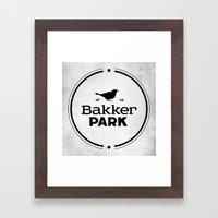 Bakker Park Framed Art Print