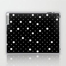 Pin Point Polka Dots White on Black Laptop & iPad Skin
