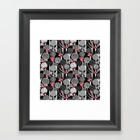 Red Panda Forest - Black Framed Art Print