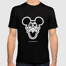 Mickey Duck Black Mens Fitted Tee SMALL