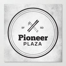 Pioneer Plaza Canvas Print