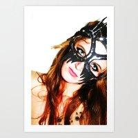 Kat Mask Art Print