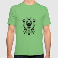 Grass Type Damask Mens Fitted Tee Grass SMALL