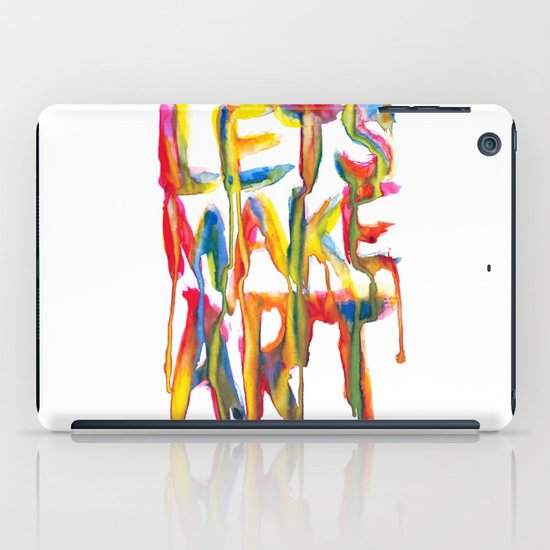 LET'S MAKE ART iPad Case