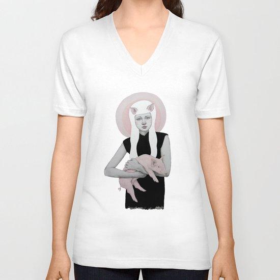 Peonia V-neck T-shirt