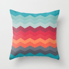 Color strips pattern Throw Pillow