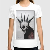 Punk Macabre Womens Fitted Tee White SMALL
