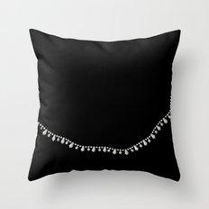 Vintage Beads on Black Throw Pillow
