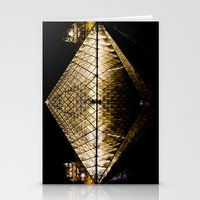 Musee Louvre Pyramid Stationery Cards