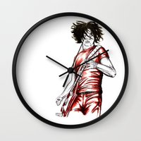 Jack White Red Watercolo… Wall Clock