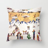 Escapism Throw Pillow