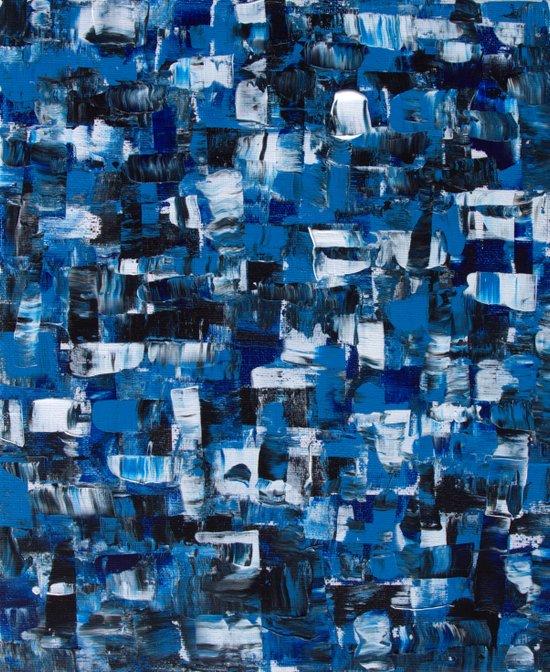Blue Blade Painting Art Print