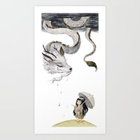 Water Dragon Art Print