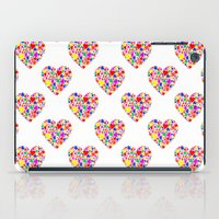 Rainbow Heart Pattern iPad Case
