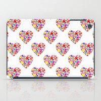 Rainbow Heart Pattern iPad Case