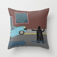 Darth Vader traffic Throw Pillow