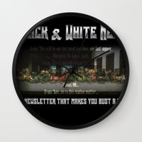 The Black & White Last Supper Wall Clock