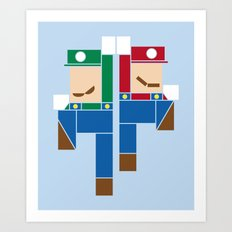 Super Bro High Five Art Print