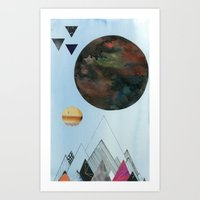 Moons and Mountains Art Print