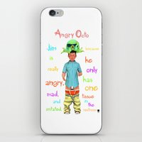 Angryocto - Jim's Lastho… iPhone & iPod Skin