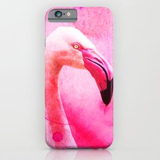Pink Flamingo - Watercolor Collage Slim Case iPhone 6s