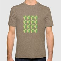 GREEN/LEMON BIRDS Mens Fitted Tee Tri-Coffee SMALL
