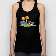 Mushrooms (Colors) Unisex Tank Top