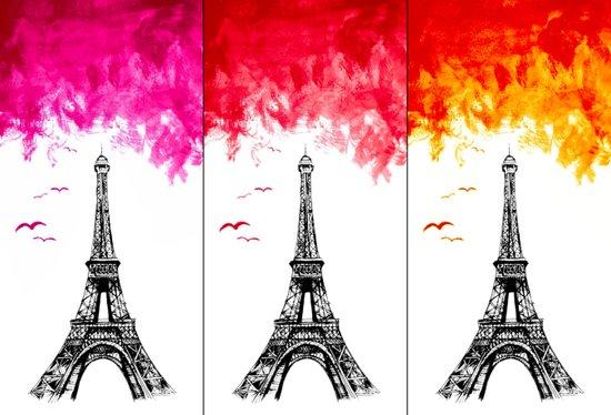 Triple Eiffel Art Print