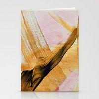 Brush Strokes Yellow And… Stationery Cards