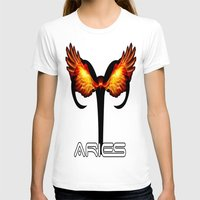 Aries Womens Fitted Tee White SMALL