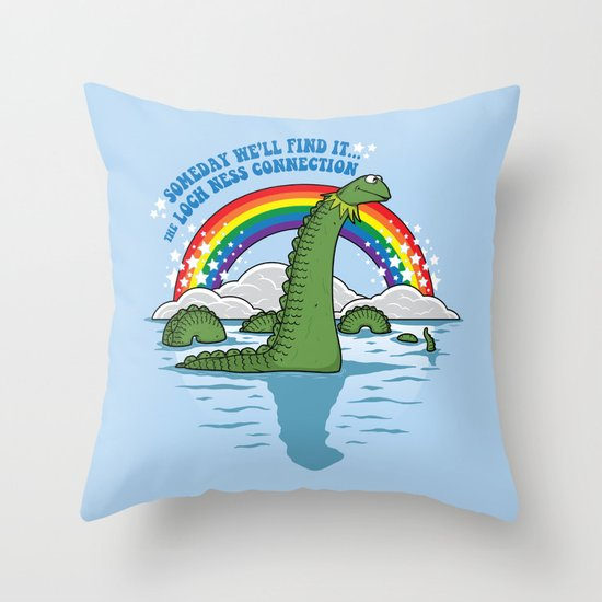 The Lochness Connection Throw Pillow
