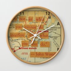 John Wooden Quote Wall Clock