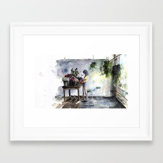 green care Framed Art Print
