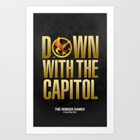 Hunger Games - Down With… Art Print