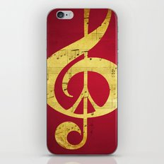 Music & Peace Sheet Music iPhone & iPod Skin
