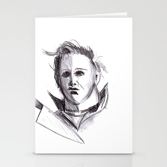 Micheal Myers  Stationery Card