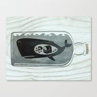 Whale In A Bottle | Trea… Canvas Print