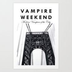 Vampire Weekend / George Washington Bridge Art Print