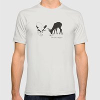 Deer love a Cuppa! Mens Fitted Tee Silver SMALL