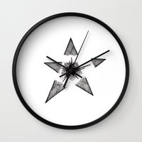 Exploding Star Wall Clock