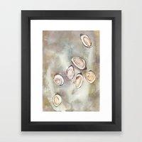 Oyster Bed Framed Art Print