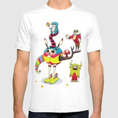Candy Mens Fitted Tee White SMALL