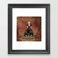 La Señora de las Flores Framed Art Print